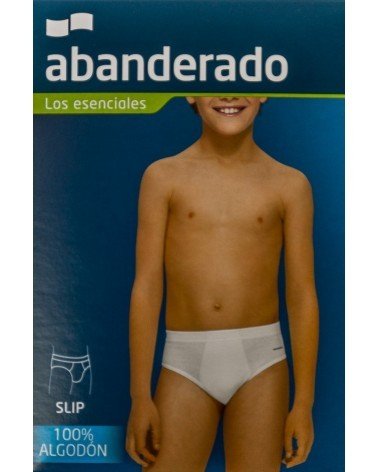 SLIP 100% ALGODON NIÑO/CADETE - ABANDERADO 200 Blanco
