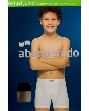 BOXER 100% ALGODON NIÑO/CADETE - ABANDERADO 200 Blanco